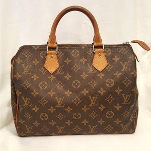 100% Auth Louis Vuitton Speedy 30 SP0995